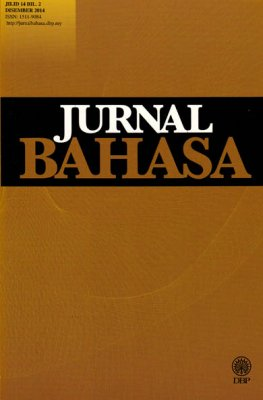 Jurnal Bahasa Jilid 14 Bil. 2 Disember 2014